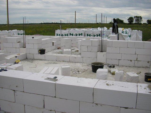 Устройство стен из газоблоков