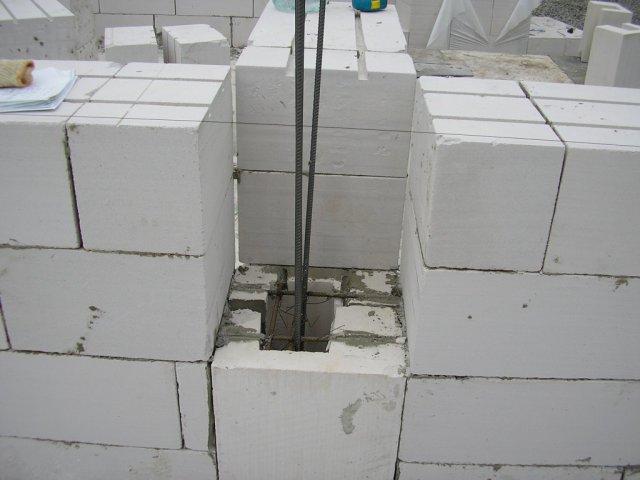 Промежуточная монолитная колонна