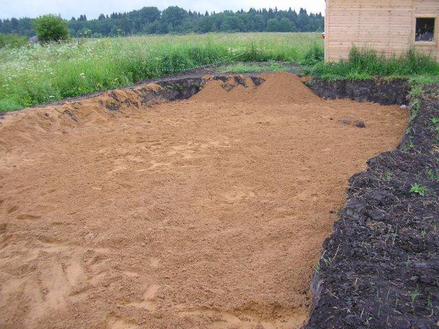 Отсыпка песком 1