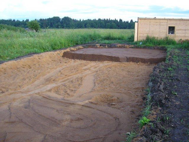 Отсыпка песком 3