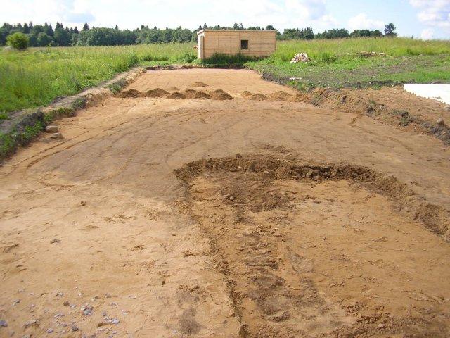 Отсыпка песком 5