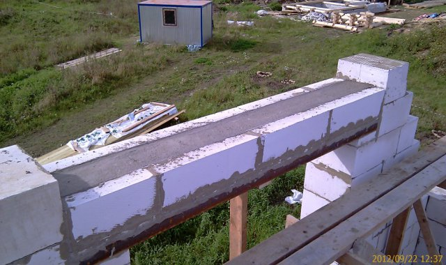 Залитая бетоном перемычка