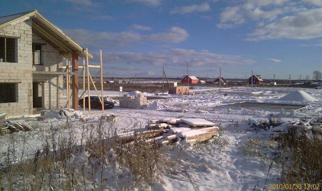 Стройплощадка зимой красива как никогда