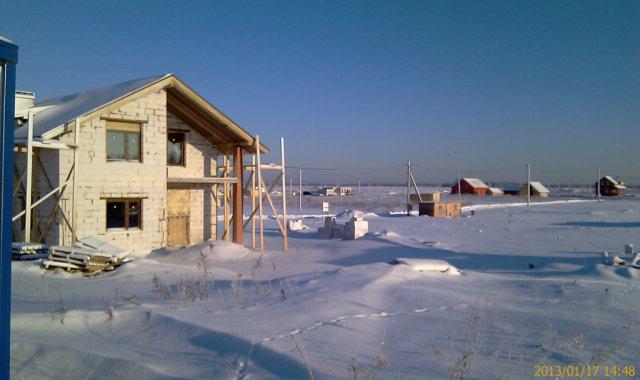 Участок в снегу 17.01.2013