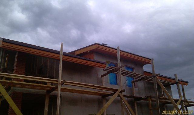 Обшивка доской крыши