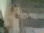 Электрокабель в штробе