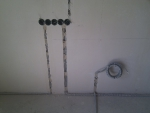 Кабинет, вывод из под пола витой пары (3 кабеля)