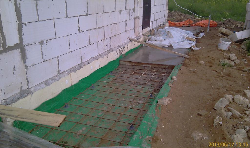 Отмостка вокруг дома своими руками из бетона с утеплением 68