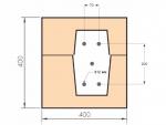 Опалубку для угловых бетонных колонн делали из U-блоков. Сейчас не стал бы на них тратиться и использовал бы 4 простых 100мм газоблока