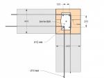 Угловые колонны первого этажа (так сделаны не только угловые, но и серединные колонны первого этажа)