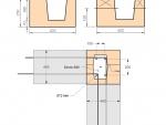 Армирование угловых бетонных колонн, завязка с арматурой рядов