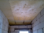 Обшивка потолка фанерой 10мм