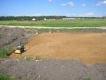 Отсыпка площадки фундамента песком