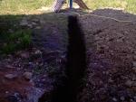 Траншея для зимнего водопровода