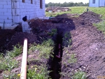 Траншея под канализацию